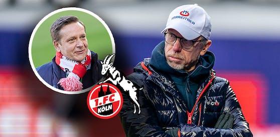 Horst Heldt reist für einen Blitz-Besuch nach Wien.
