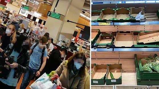 Vor dem 1. Mai wurden die Supermärkte in Wien gestürmt