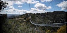 Längste Hängebrücke der Welt wird zur Mutprobe