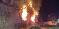 Sohn rettet Mutter aus brennendem Haus