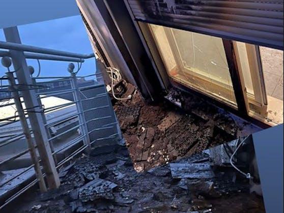 Der Balkon von TV-Promi David Friedrich brannte in der Nacht auf Ostersonntag komplett aus.