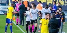 Rassismus-Eklat! Valencia-Spieler verlassen den Rasen