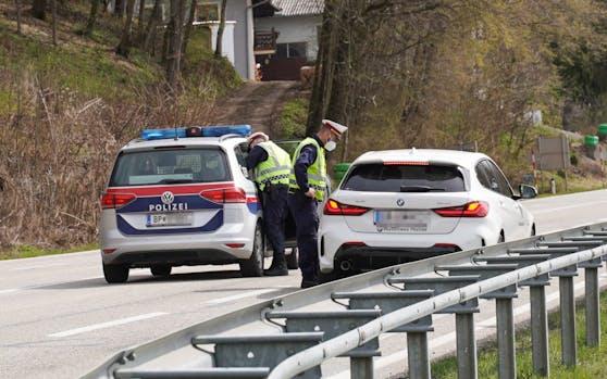Auch Anfang April gab es im Bezirk Braunau bereits Ausreisekontrollen.
