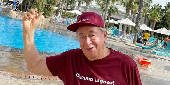 Richard Lugner im Urlaubsparadies