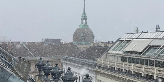 Der Wintersturm brachte Schnee in die Wiener City.