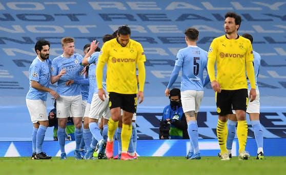 Manchester City legt im Hinspiel vor.