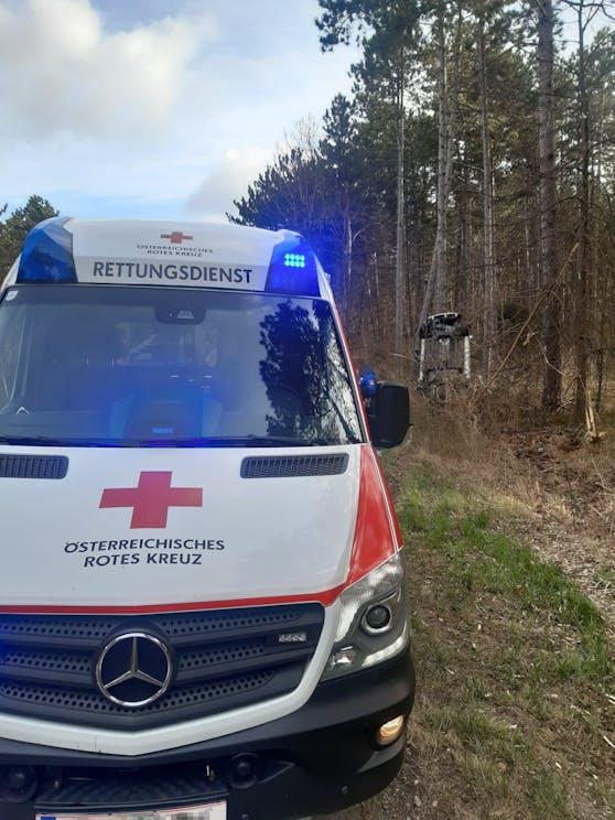 Das Rote Kreuz versorgte die junge Frau.
