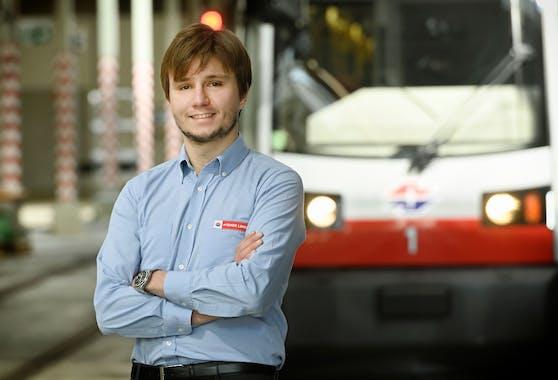 Straßenbahnfahrer Felician Baumann