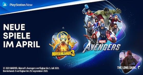 PlayStation Now-Spiele im April: Marvel's Avengers, Borderlands 3 und The Long Dark.