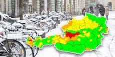 Warnstufe Rot wegen heftigem Schneefall