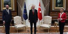 Erdogan lässt EU-Chefin nicht auf Sessel sitzen