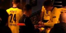 Rührend: Darum holte sich Referee Haaland-Autogramm