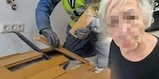 """Wut-Oma: """"Werde von maskenlosen Bauarbeitern erpresst"""""""