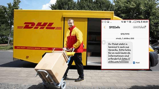 DHL warnt vor solchen Phishing-SMS
