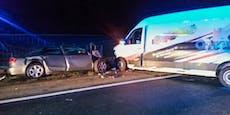 19-Jähriger nach Frontalcrash im Auto eingeklemmt
