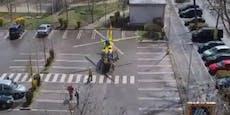 Mann (62) kippte auf Straße um, kam mitHeli ins Spital