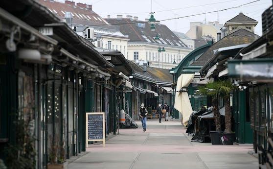 Lockdown in Wien: Tote Hose am sonst so belebten Naschmarkt