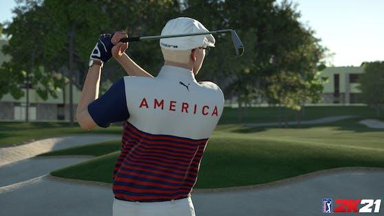 """""""PGA Tour 2K21"""" jetzt mit neuer Ausrüstung von TravisMathew und Puma Golf."""