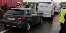 Verletzte nach Massencrash auf der Nordautobahn