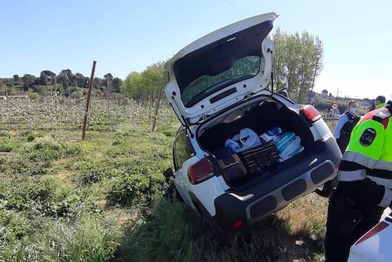 In diesem Auto entdeckten die Polizisten die Leiche.
