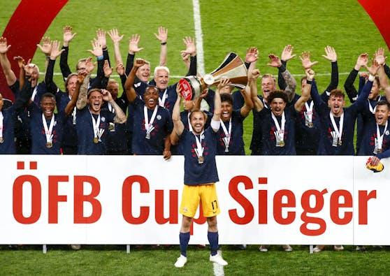 Salzburg feiert den dritten Cupsieg in Serie.