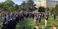 Video zeigt Eskalation bei Mai-Aufmarsch in Wien