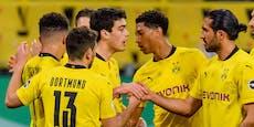 5:0-Kantersieg! Dortmund stürmt ins DFB-Pokalfinale