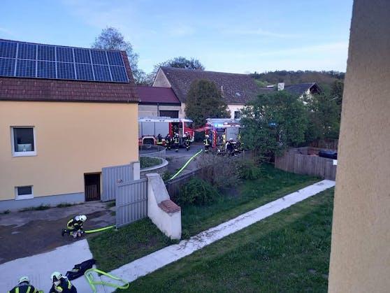 In einem Haus war ein Brand ausgebrochen.