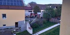 Großeinsatz bei Brand in einem Haus in Pielach bei Melk