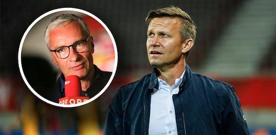 Salzburg-Coach Jesse Marsch lässt Rainer Pariasek auflaufen.