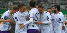 Klagenfurt legt im Aufstiegs-Rennen mit 2:0-Sieg vor