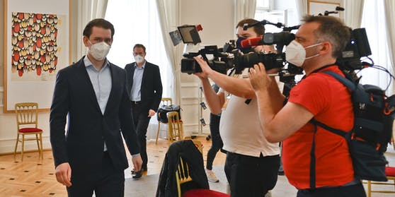 Bundeskanzler Sebastian Kurz (ÖVP) am Montag bei Corona-Gipfel.