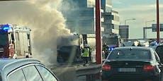 Mega-Stau nach Brand auf Südosttangente in Wien
