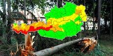 Warnstufe ROT! Kräftiger Sturm fegt über Österreich
