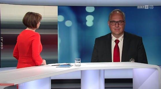 """Foitik im ORF-""""Report"""" am Dienstag."""