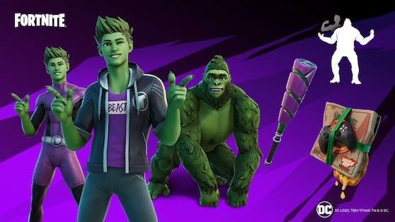 """Fortnite"": Nächstes Teen Titans-Mitglied Beast Boy spielbar."