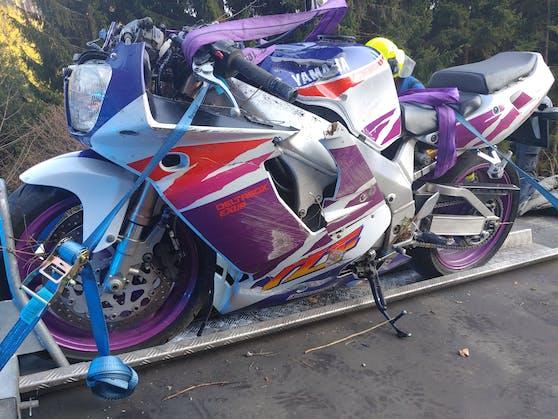 Das ramponierte Bike beim tödlichen Unfall.