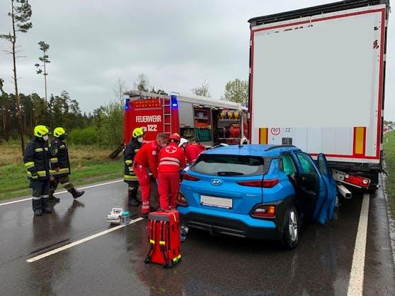 Rettung, Feuerwehr und Polizei waren im Einsatz.