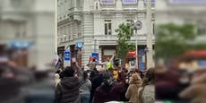 Hunderte bei Palästina-Demo auf der Wiener MaHü
