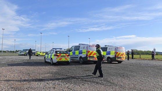 Polizei-Einsatz in Blackpool – ein Neunjähriger starb nach Blitzeinschlag.