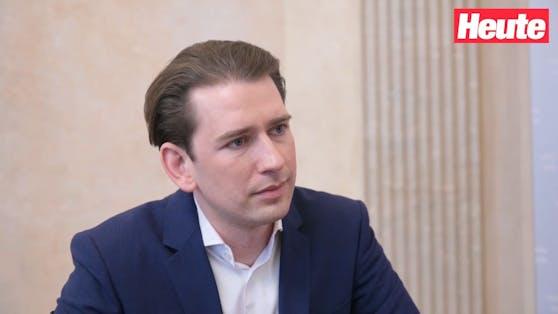 """Bundeskanzler Sebastian Kurz gab """"Heute"""" das erste Interview zu den schweren Vorwürfen."""