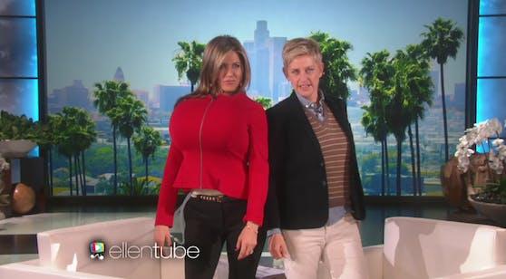 Jennifer Aniston in der Show von Ellen DeGeneres