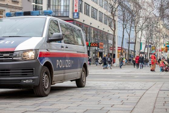 Auf der Mariahilfer Straße kam es am Mittwoch (12. Mai 2021) zu einem Polizeieinsatz. Symbolbild.