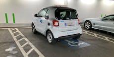 Wiener parkt Carsharing-Auto auf Behindertenparkplatz