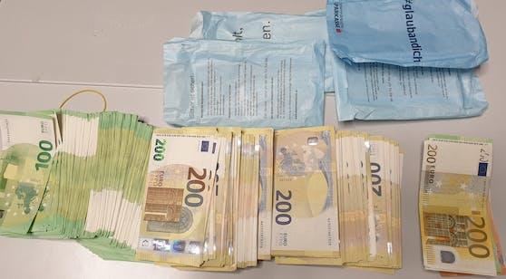 Das sichergestellte Bargeld