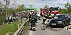 Schwerverletzte beiCrash zwischen BMW & Kleinbus