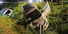 Ersthelferin (37) bei Massen-Crash von Pkw erfasst