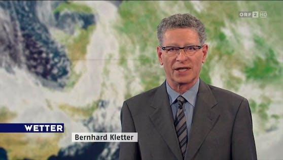 Bernhard Kletter bei seinem letzten Wetter-Auftritt im ORF am 28. Februar 2014.