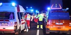 Geisterfahrerin verursacht Massen-Crash auf A8