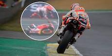Marquez schmeißt Sieg in Regenschlacht von Le Mans weg